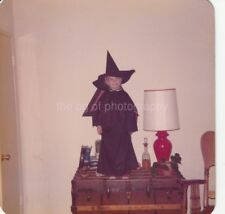 Little Halloween Kid FOUND PHOTOGRAPH Color FREE SHIPPING Original WITCH 91 9 H