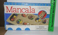 Mancala Finished Wooden Board w/Gem Stone Playing Pieces 2000 Premier Edition