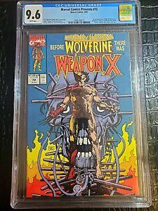 Marvel Comics Presents #72 CGC 9.6 NM+ Weapon X Wolverine Origin 1991