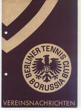 Tennis Borussia Berlin - Vereinsnachrichten - Januar / Februar 1955
