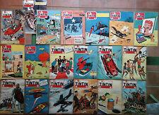 TINTIN settimanale Vallardi sequenza 19 numeri su 25 1955: 7/10 1956: 1/15 cpl