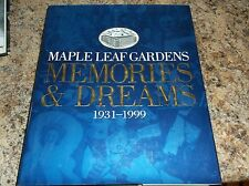 maple leaf gardens memories and dreams 1931-1999 hard cover book