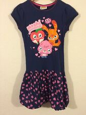 Moshi Monster Dress Girls Age 12 Years Bubble Hem In Navy <R4618