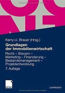 Grundlagen der Immobilienwirtschaft: Recht - Steuern - M... | Buch | Zustand gut
