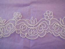 Blanco Bordado Adorno de encaje floral de boda nupcial Zapatos Encaje Decoración permeter