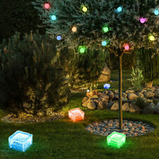 2er Set RGB LED Solare Luci esterne catene Farfalla Decorazione Lampade cambio colore