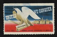 1943 Council of Intolerance Cinderella Stamp