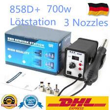 WEP 858D+ Schweißen Hot Air Gun SMD Rework Heißluft Station Löten 700W+3 Nozzle