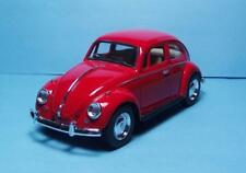 """1967 Volkswagon Classic Beetle-5"""" Die Cast w/Pull Back Power & Opening Drs-Red-8"""