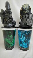 Alien Vs Predator Avp  Theater 2cups w/Topper Figures set promo EX 2004 Japan