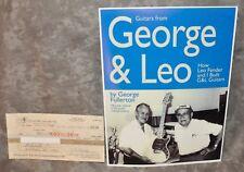 Leo Fender & George Fullerton G&L Music Sales Autographed Check & Hp 8x11 Photo