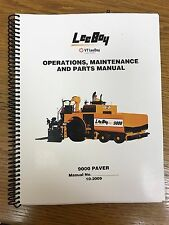 Oem Leeboy 9000 Paver Operation Maintenance Parts Manual Book