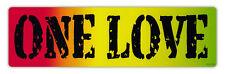 Bumper Sticker Decal - One Love - Bob Marley, Peace, Coexist