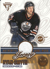 02-03 PRIVATE STOCK TITANIUM GAME JERSEY RYAN SMYTH /1052 OILERS *19895