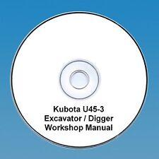 Kubota U45-3 Escavatore/Escavatore - Manuale D'Officina