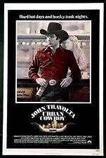 URBAN COWBOY JOHN TRAVOLTA 1980 1-SHEET ROLLED NEAR MINT