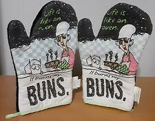 "New ListingHallmark Maxine Oven Mitt Pair ""Life is like an oven. It burns my buns"" Rare!"