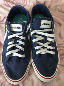 STAR REPLAY OX TRAINERS SHOES - BLUE/WHITE/RED - *CONVERSE*  ADULT SIZE 8