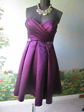Belsoie  Women's Dress Purple Strapless Sweetheart Formal Cocktail Prom Size 10