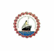 R.m.s Titanic 100th Anniversary Enamel Poppy Lapel Pin Badge