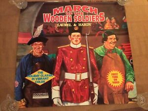 Laurel and Hardy, March of the wooden solders, Goodtimes video poster-1991