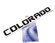 1x OEM Black COLORADO Nameplate Emblem for COLORADO Chevrolet Alloy Letter F1U