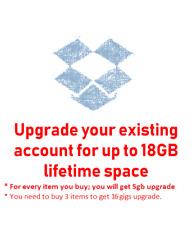 Dop-box Cloud Storage UPGRADE +5 GB *FAST* in 48h