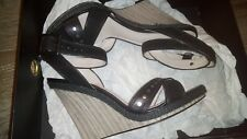 MIMCO BLACK PIPELINE WEDGE SHOES SIZE 41 / 10 RRP $249 BRAND NEW IN BOX