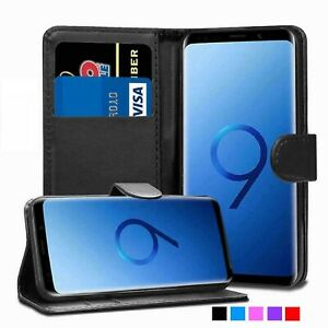 For Samsung Galaxy S9 Plus Case Cover magnetic Flip Leather Wallet phone Genuine