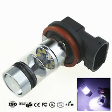 2x H8 6000K 1800L 100W Cree LED 20SMD Projector Fog Driving DRL Light Lamp Bulbs