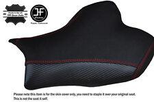 CARBON GRIP RED STITCH CUSTOM FITS SUZUKI GSXR 1000 13-16 FRONT SEAT COVER