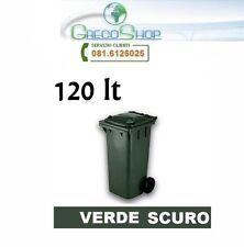 Cassonetto/Pattumiera/Bidone per raccolta rifiuti uso esterno 120lt verde scuro