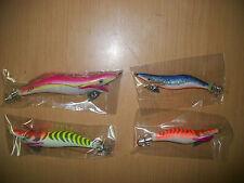 lotto 4  squid jigs japan esche artificiali pesca tipo rapala 27-16 gr
