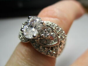 STERLING SILVER 925 ROSS SIMONS CUBIC ZIRCONIA WITH ACCENTS BAND RING SIZE 5