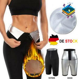 Damen Slim Body Shaper Gewichtsverlust Leggings Sweat Sauna Thermo Taillenformer