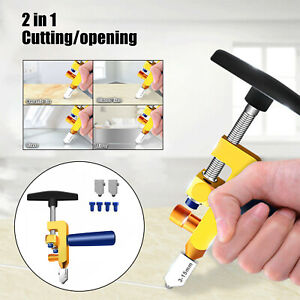 2 in 1 Easy Glide Ceramic Tile Glass Cutter Tool One-Piece Aluminum Alloy Blade