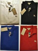 BURBERRY BRIT MEN S CASUAL SHIRT POLO SHORT SLEEVE CHECK PLACKET S,M,L,XL,XXL