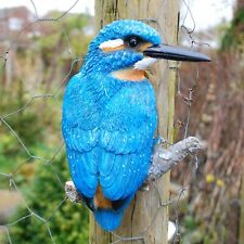 Wall Mountable Kingfisher Bird Garden Ornament Outdoor Statue