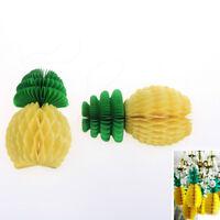 5Pcs Tropical Pineapple Honeycomb Garland Centerpiece'Table Hawaiian Party Decor
