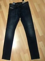 Mens Diesel TEPPHAR Stretch Denim 0814W DARK Blue Slim W27-28 L32 H6 RRP£150