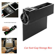 Car Seat Gap Storage Box w/4USB Charging Armrest Cup Crevice Pocket Universal