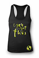 You Got This Gym Vest Women Racerback Yoga Workout Vest Tank Sports Top Clothes