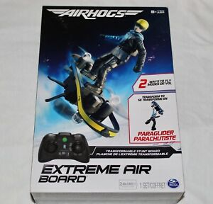 AIRHOGS Extreme Air Transformable Stunt Board 8+ Spin Master Drone ParaGlider