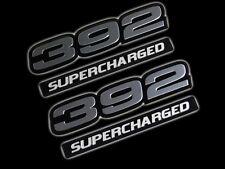 VMS 2 CHRYSLER DODGE 392 CI SUPERCHARGED HEMI ENGINE EMBLEM SILVER BLACK