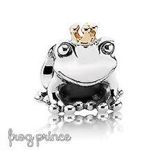 Pandora Genuine ALE 925 Silver Crowned Frog Prince Charm 791118