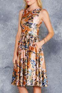 Black Milk Imperial Dragon Velvet Princess Midi Dress Size Medium M