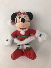 Disney Parks Minnie Mouse Santa Plush Toy Christmas Ornament