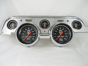 67-68 Mustang  - Shelby Signature Instrument Cluster - Black Gauges