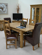 French Farmhouse Oak Dining Table 4ft Extending - Seats 4 to 6