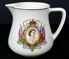 "Queen Elizabeth II Coronation June 2nd 1953 Creamer 3.5"" Tall Made In England"